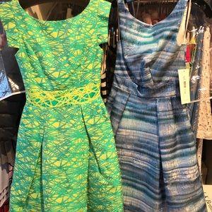 Theia Blue Cocktail Dress sz 0 NWT
